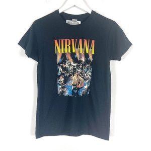 Nirvana Black Graphic Tee NWT Small